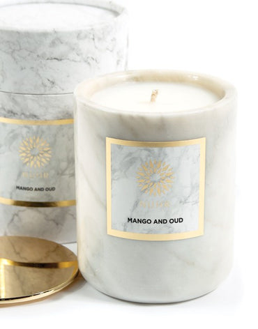 LARGE MANGO & OUD LUXURY SCENTED CANDLE - Haute Elan