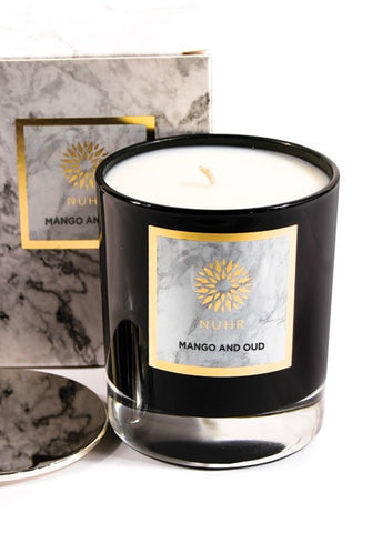 DELUXE MANGO & OUD SCENTED CANDLE