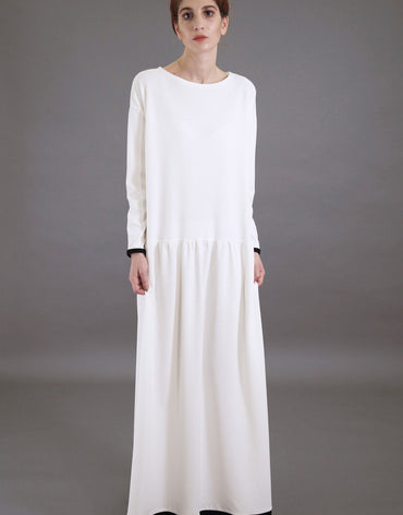 White Oversized Maxi Dress