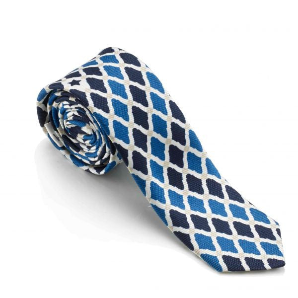 """Deep Blue Sea"" Slim Tie - Haute Elan"