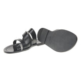 Asymmetric Multi-Strapped Leather Sandal