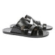 Asymmetric Multi-Strapped Leather Sandal - Haute Elan