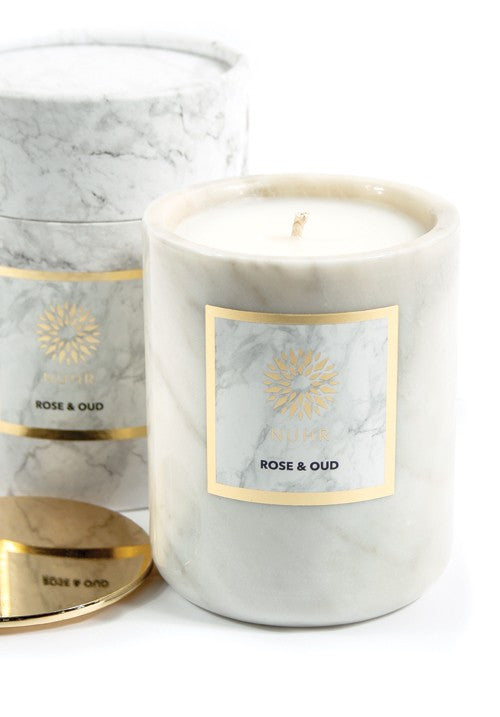 LUXURY ROSE & OUD SCENTED CANDLE