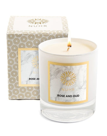Rose & Oud Luxury Scented Candle - Haute Elan