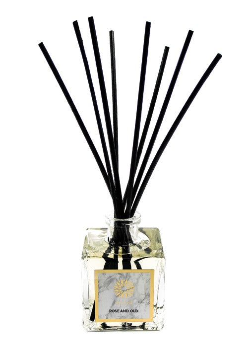 Rose & Oud Luxury Reed Diffuser - Haute Elan