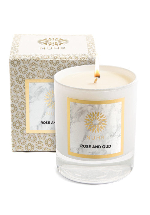 CLASSIC ROSE & OUD SCENTED CANDLE - Haute Elan