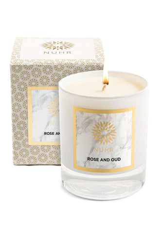 CLASSIC ROSE & OUD SCENTED CANDLE