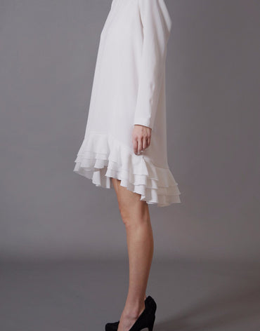 White Ruffle Dress