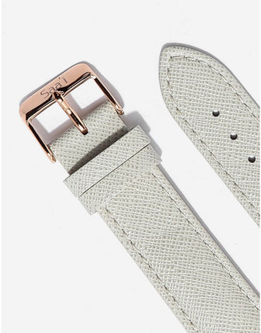 ITHNAAN Cream Leather Strap