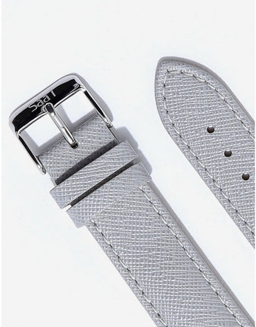 ITHNAAN Grey Leather Strap