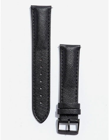 ITHNAAN Black Leather Strap