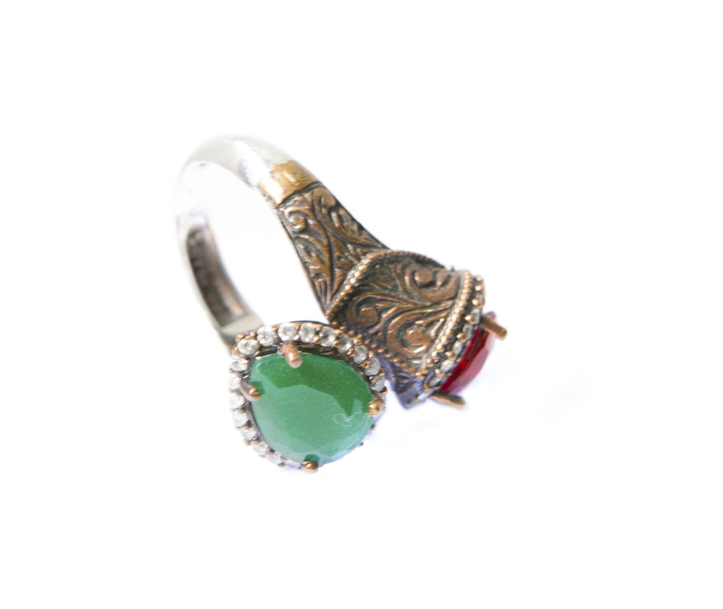 SAMAREEN DOUBLE-STONE RING