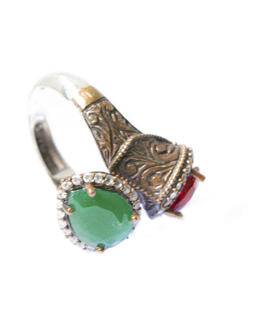 SAMAREEN DOUBLE-STONE RING - Haute Elan