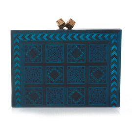 Dama Blue Clutch
