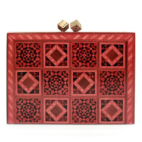 Dama Red Clutch