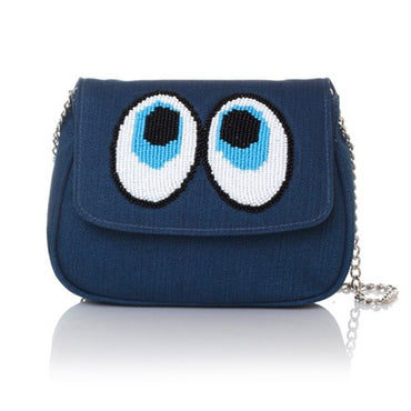 Snoop Blue Manhattan Cross-Body Bag - Haute Elan