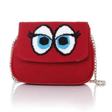 Snoop Red Manhattan Cross-Body Bag - Haute Elan