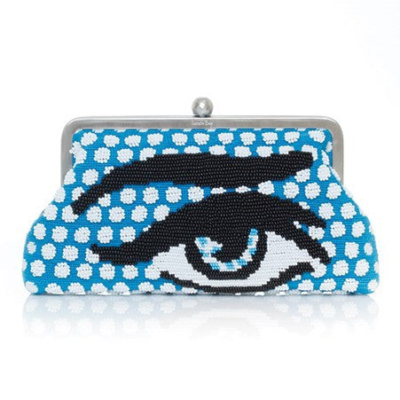 Pop Eye Blue (Canvas) Classic Clutch