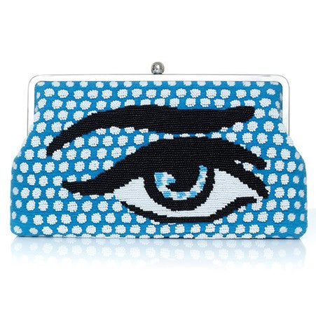 Pop Eye Blue (Canvas) Clutch Me