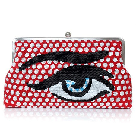 Pop Eye Red (Canvas) Clutch Me