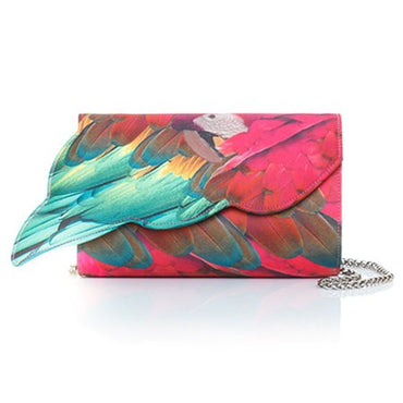 Parrot Wing Fushia Cross-Body Bag - Haute Elan