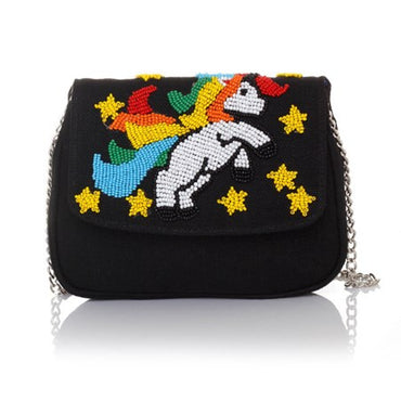 I Am A Unicorn Black Manhattan Cross-Body Bag