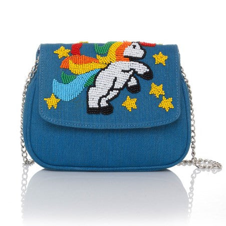 I Am A Unicorn Blue Manhattan Cross-Body Bag