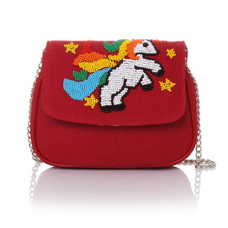 I Am A Unicorn Red Manhattan Cross-Body Bag