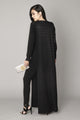 Black One Sleeve Abaya and Jumpsuit