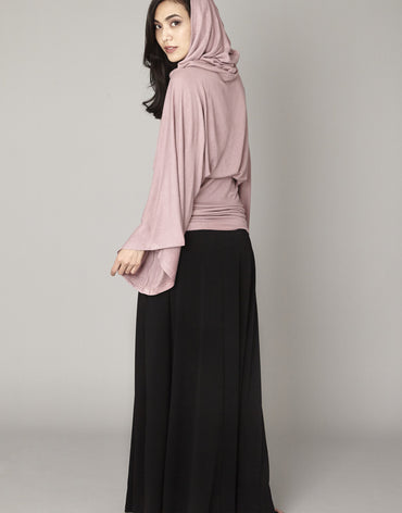 Pink Hooded Maxi Dress - Haute Elan