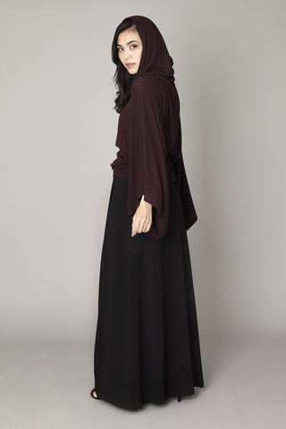 Burgundy Hooded Maxi Dress