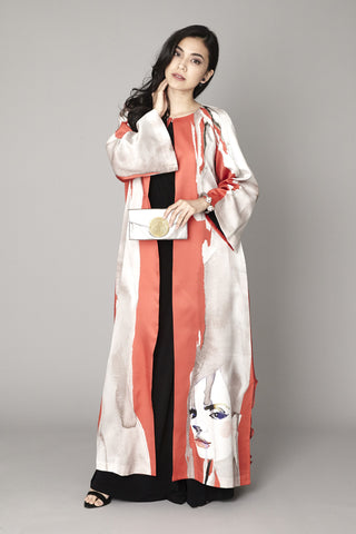 Rose Cape Kaftan Jacket