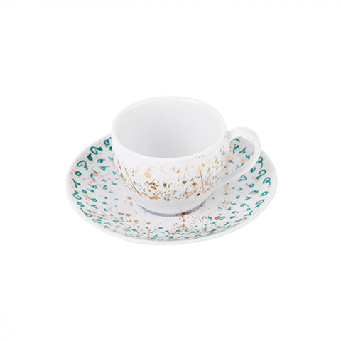 Turquoise Accents Espresso Cup