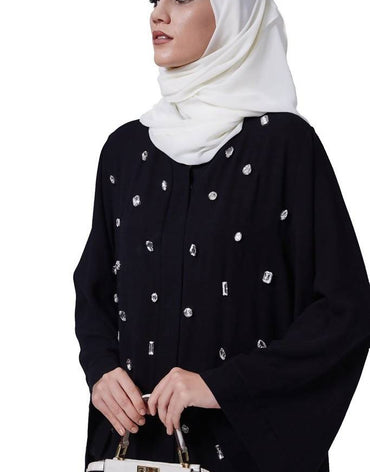 de7e2dfd2b4e Feradje Glowing Abaya Black Feradje Glowing Abaya Black