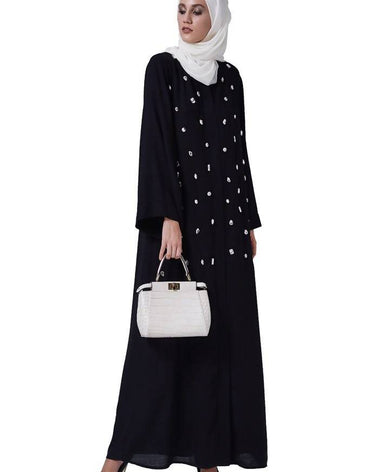 ba1f9cbec371 Feradje Glowing Abaya Black ...
