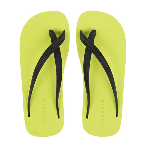 Bicolored Cross Toe Luxe Flip Flop - Haute Elan