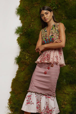 Gula Embroidered Ruffled Blouse for spring and summer weddings