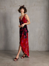 Load image into Gallery viewer, Velvet wrap strap dress