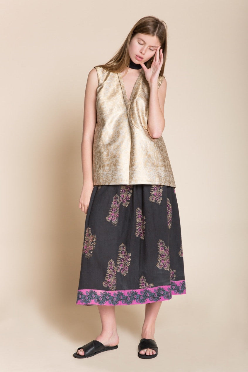 Golden Brocade Top