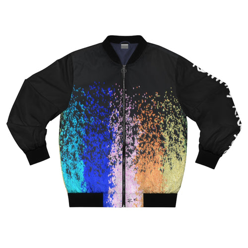 Inverted AOP Bomber Jacket by Running-Kruger (front)