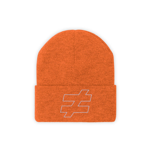 not equal knit beanie in deep orange by running-kruger