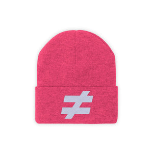 Not Equal Beanie by Running-Kruger Apparel