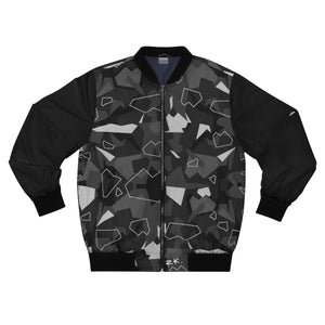 Black Camo Bomber Jacket by Running-Kruger Apparel