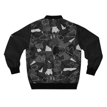 Load image into Gallery viewer, Black Camo Bomber Jacket by Running-Kruger Apparel