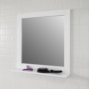 SoBuy Wall Mounted Bathroom Mirror with Shelf, 57 x 12 x 58cm,BZR16-W