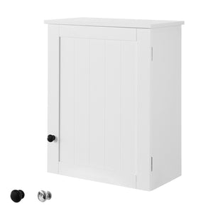 SoBuy BZR19-W,White Wall Mounted Single Door Bathroom Cabinet