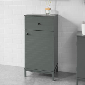 SoBuy Floor Standing Bathroom Storage Cabinet Unit with 1 Drawer 1 Cabinet,BZR26-DG