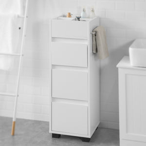 SoBuy® White Bathroom Cabinet Bathroom Storage Cabinet Unit with 3 Drawers,BZR29-W