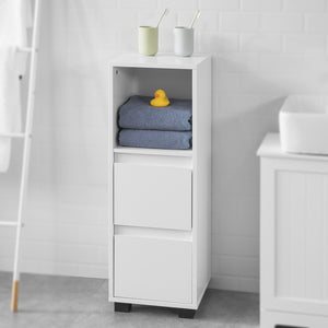 SoBuy® White Bathroom Cabinet Bathroom Storage Cabinet Unit with 2 Drawers,BZR30-W