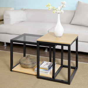 SoBuy Nesting Side Table,2 Pieces,FBT35-SCH